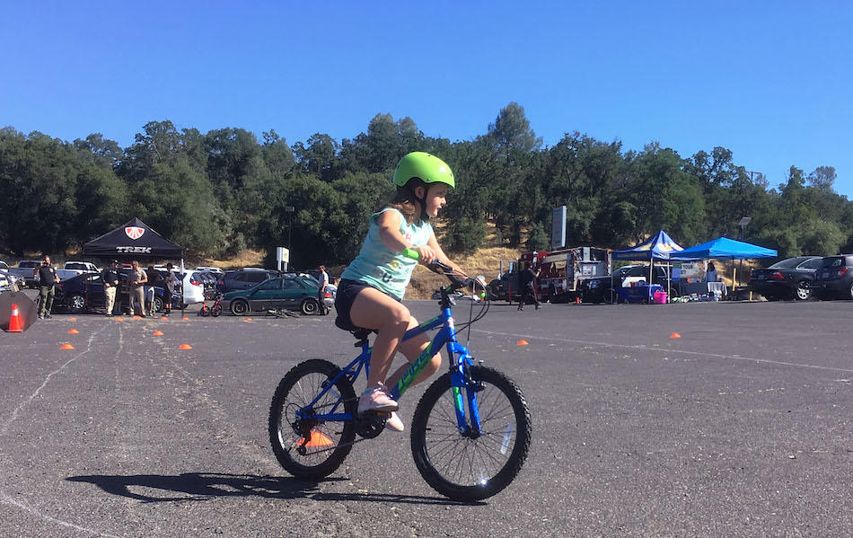 Young girl at a bike rodeo