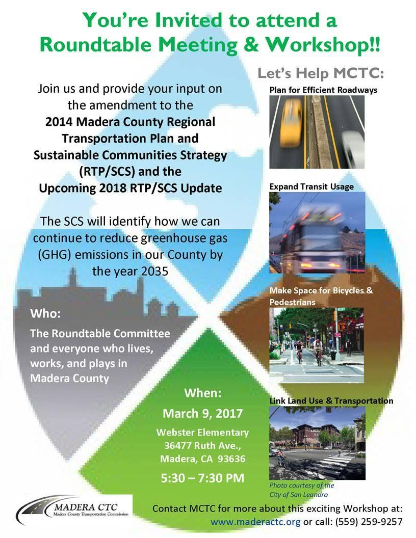 Madera County Transportation Commission flyer