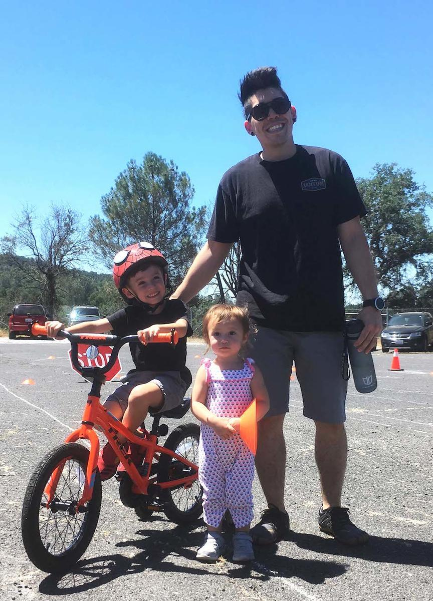 Family at bike rodeo in Sonora