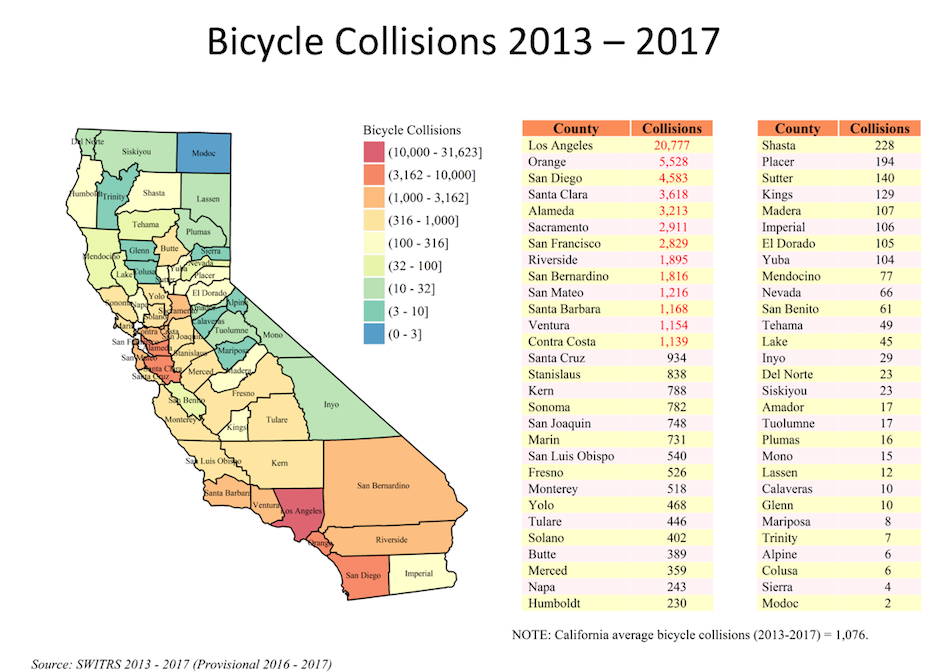 Map of 2013-2017 Bicycle Collisions