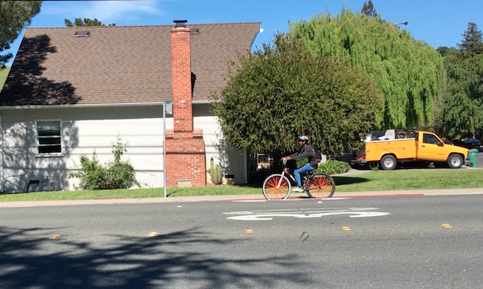 Bicyclist in Pinole, CA