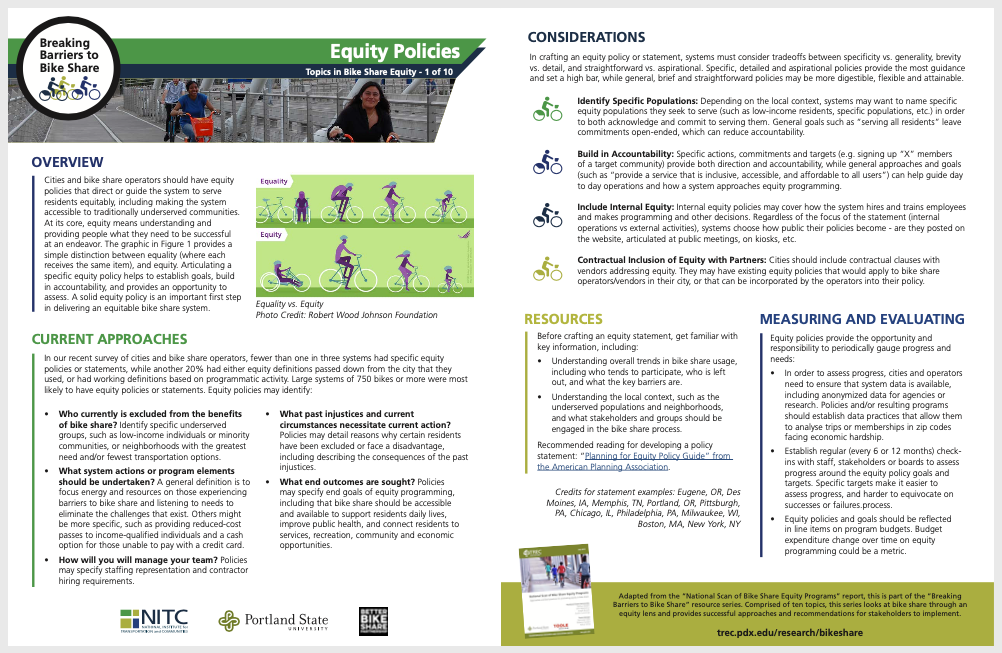 PSU TREC Bike Share Equity Brief