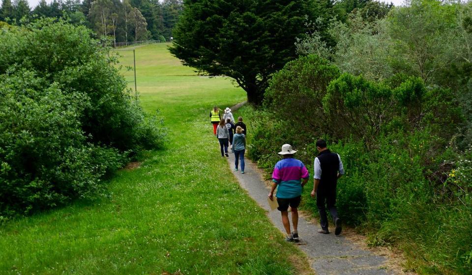 Participants on walk assessment in Eureka