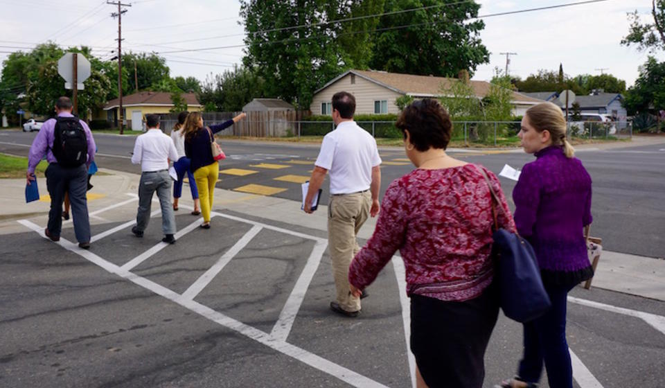 Participants on a walk assessment in Rancho Cordova