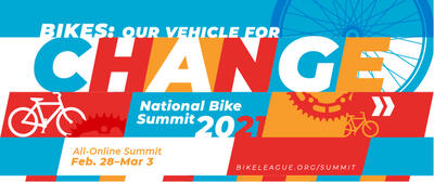 Banner graphic for the National Bike Summit 2021